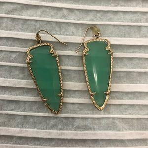 Kendra Scott arrowhead earrings in Chalcedony